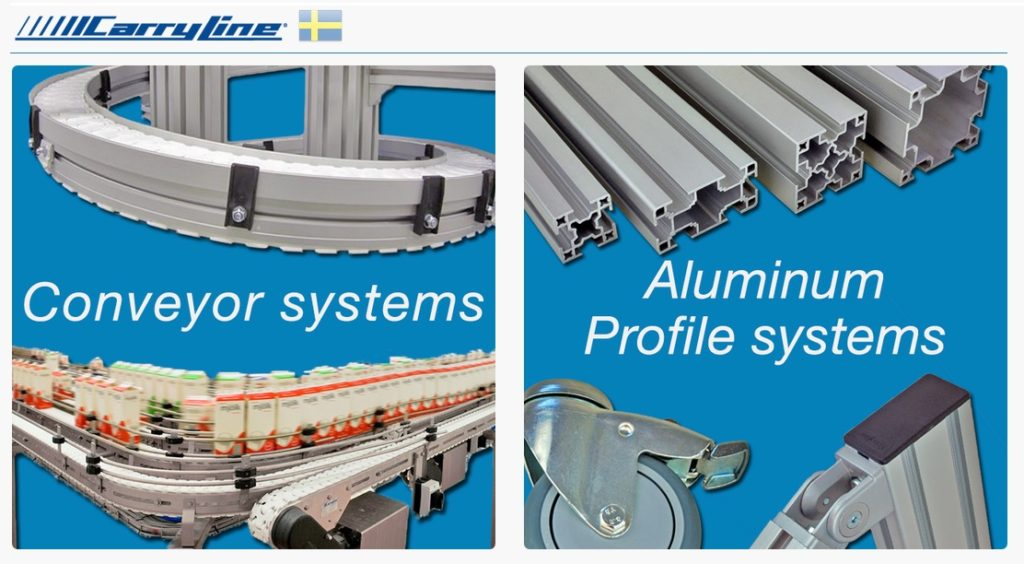 carryline logo conveyors and profiles